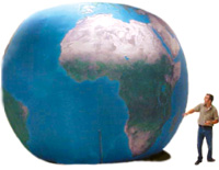 the earth balloon school assembly