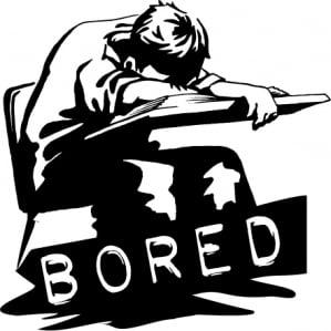 school assemblies   bored
