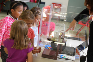 3D Printer at the Mobile Ed STEM museum hands on assembly workshop