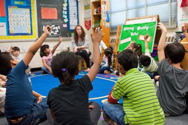 Group activities like school assemblies improve listening skills in children