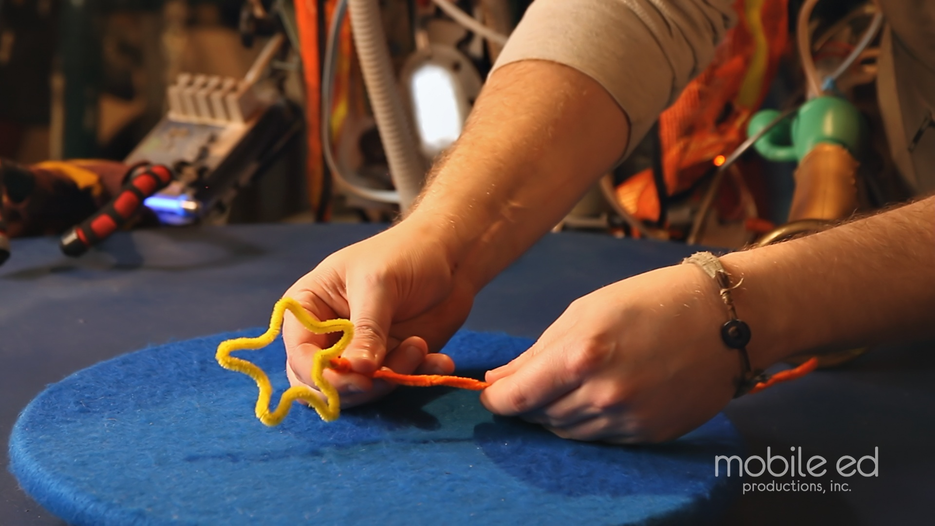 Creat the bubble wand handle | Handy Dan the Junkyard Man | Mobile Ed Productions