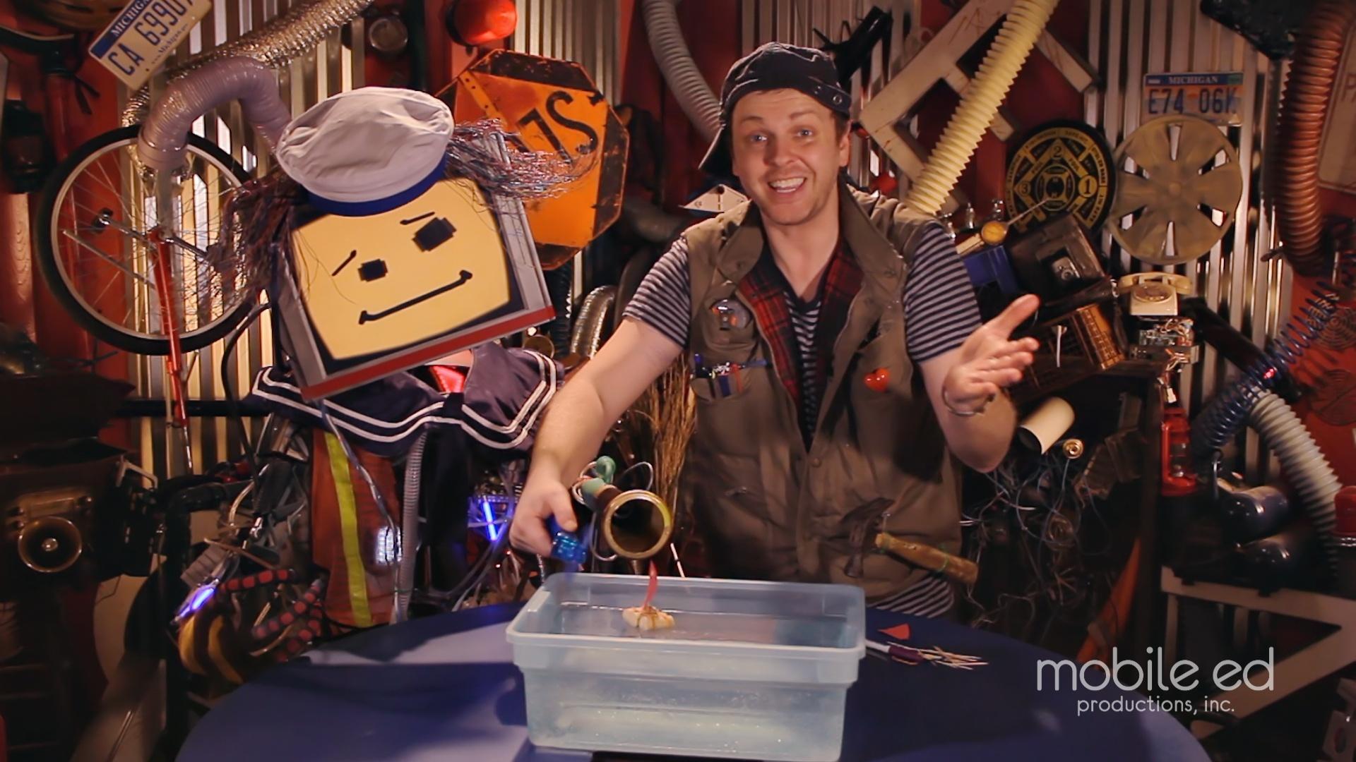 Make your own sailboat | Handy Dan the Junkyard Man | Mobile Ed Productions