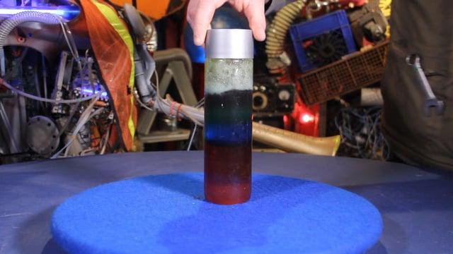 A rainbow in a bottle!