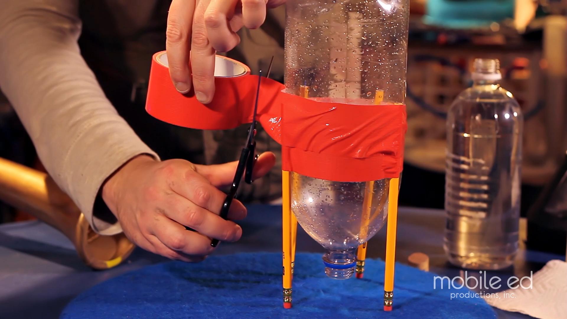 Build your own rocket - secure using tape  |  Handy Dan the Junkyard Man