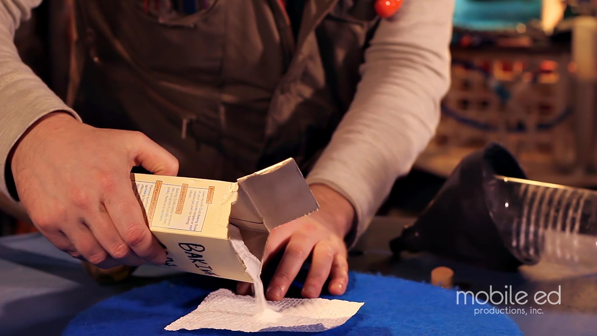 Build your own rocket - pour baking soda |  Handy Dan the Junkyard Man