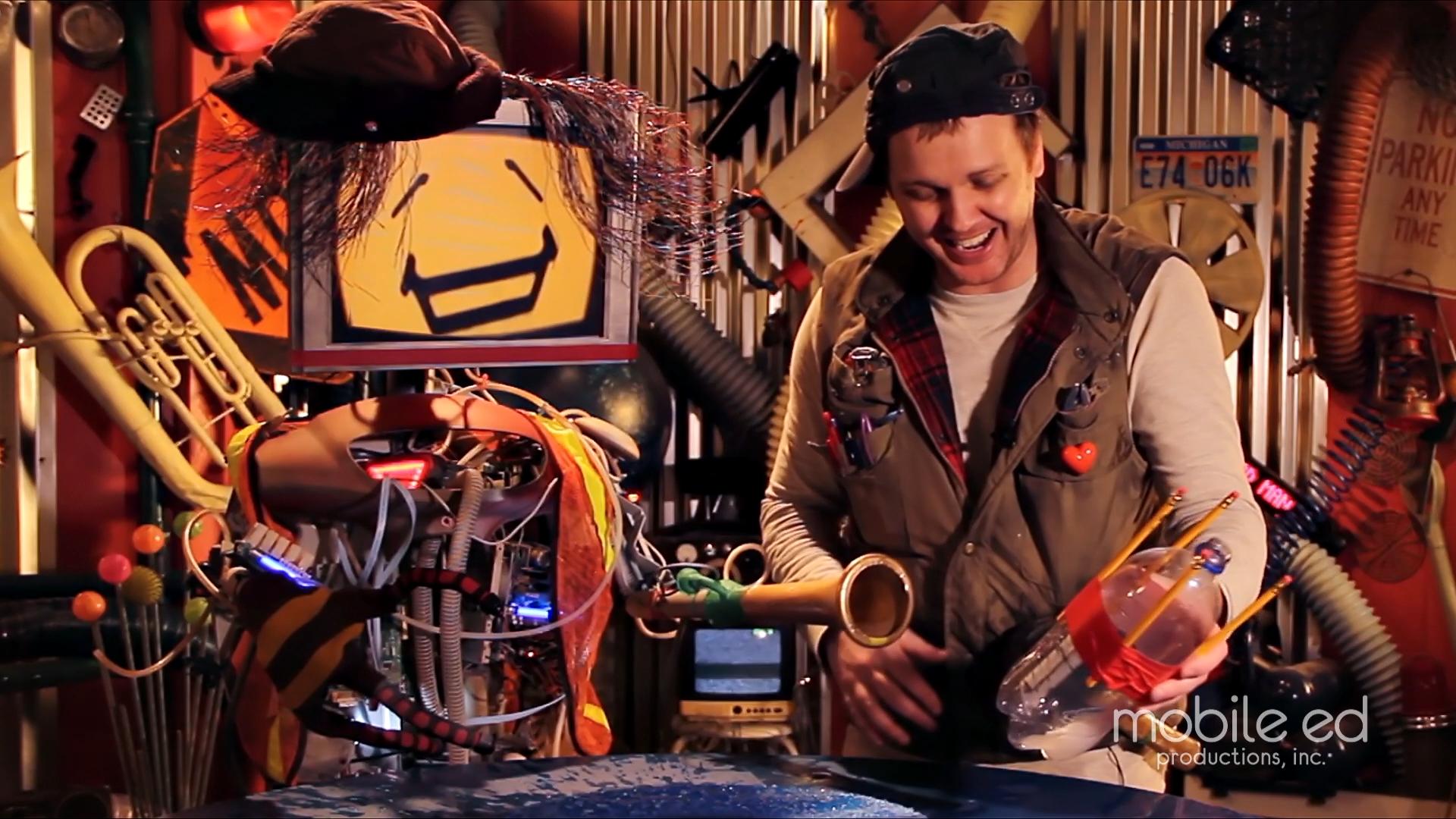It's so much fun to build your own rocket!  Handy Dan the Junkyard Man