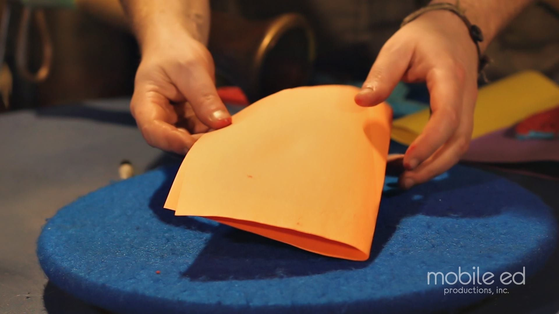 Fold the paper to make a card | Handy Dan the Junkyard Man | Mobile Ed Productions