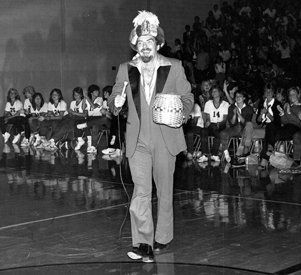 Larry Thompson as Mr. Whoodini performing in the school in which he also taught