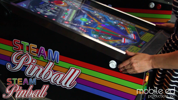 STEAM Pinball is a small, compact unit - the perfect size for kids and adults alike!