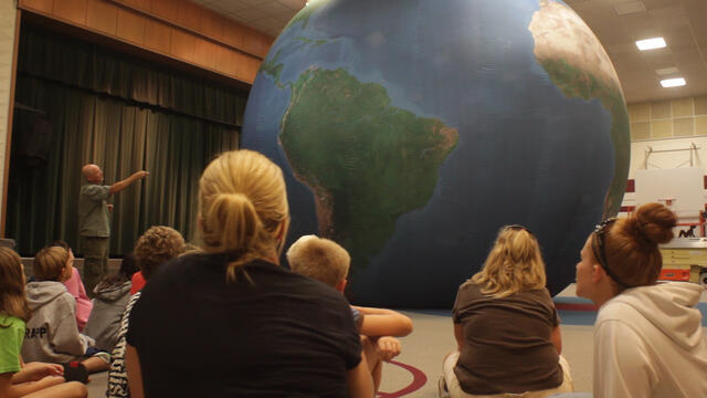 Earth Dome is an awesome in house field trip idea