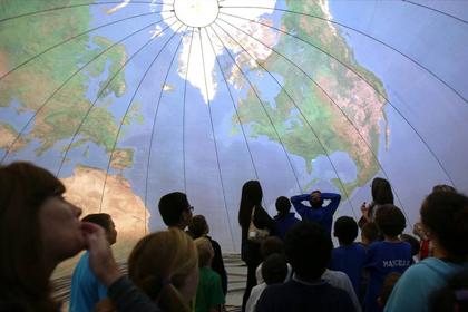 Mobile Ed's Earth Dome Earth Balloon Inflatable Globe